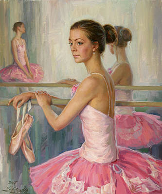 Painting - After The Rehearsal by Serguei Zlenko