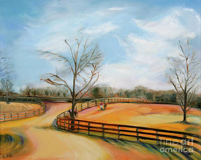 Painting - After The Ride by Karen Francis