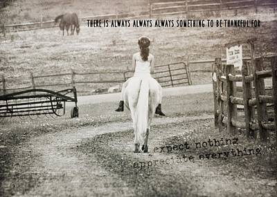 After The Ride Quote Art Print by JAMART Photography