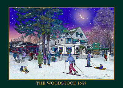 Photograph - After The Storm At The Woodstock Inn  by Nancy Griswold