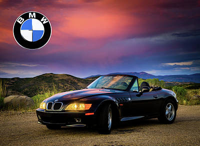 Photograph - After The Storm - Bmw Z3 Roundel by TL Mair