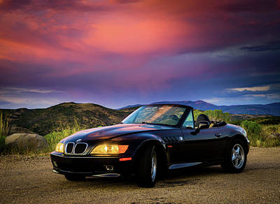 Photograph - After The Storm - Bmw Z3 by TL Mair