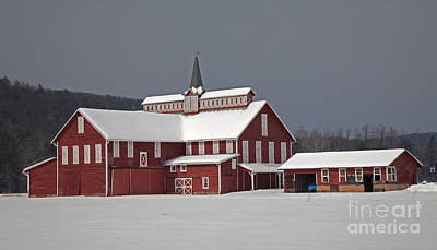 Photograph - After The Storm Red Barn by John Stephens