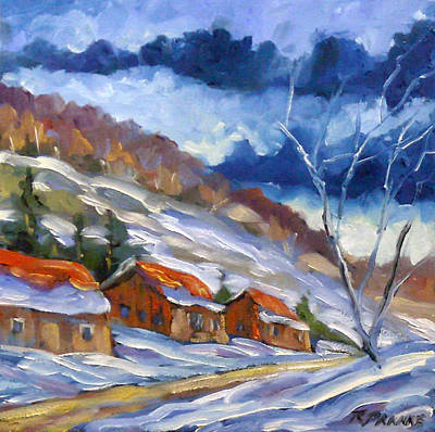Oil Painting - After The Storm by Richard T Pranke
