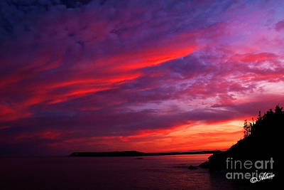Art Print featuring the photograph After The Storm Sunset by Alana Ranney