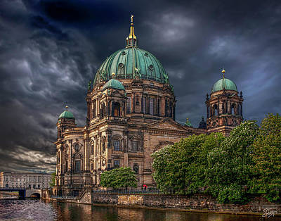 Photograph - After The Storm - The Berlin Cathedral  by Endre Balogh