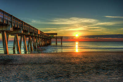 After The Storm Tybee Island Pier Sunrise Art Art Print