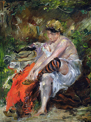 Change Painting - After The Swim by Lovis Corinth