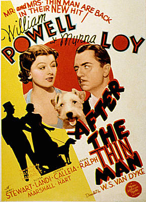 Postv Photograph - After The Thin Man, Myrna Loy, Asta by Everett