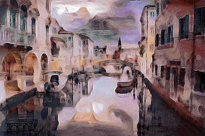 Mixed Media - After The Venetian Rain by Susan Maxwell Schmidt