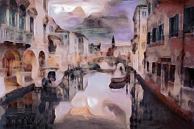 Italian Landscape Mixed Media - After The Venetian Rain by Susan Maxwell Schmidt