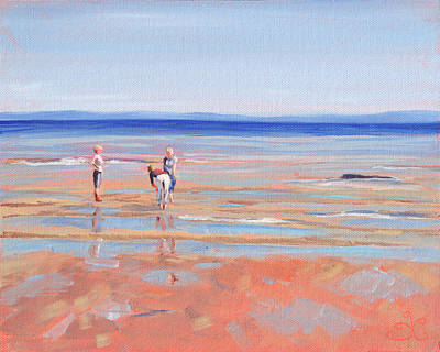 Painting - After The Walk - Whiting Bay by Trina Teele