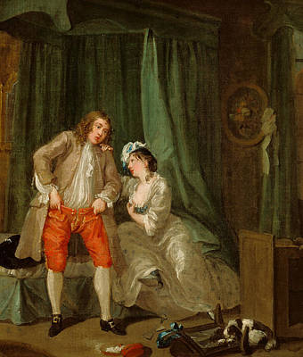 Painting - After by William Hogarth