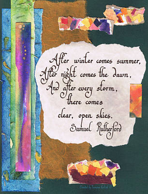 Collage Painting - After Winter Comes Summer - Green by Tamara Kulish