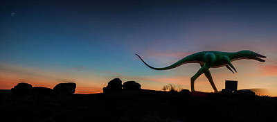 Photograph - Afterglow Dinosaur by Gary Warnimont