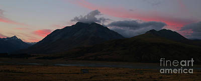 Photograph - Afterglow - New Zealand by Julian Wicksteed