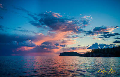 Photograph - Afterglow On The Lakeshore by Rikk Flohr