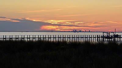 Photograph - Afterglow Over Tampa Bay by Carol Bradley