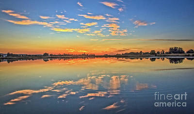 Photograph - Afterglow Reflection by Robert Bales