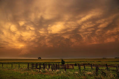Mammatus Cloud Photograph - Afterglow by Sean Ramsey