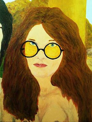 Painting - Afterlife Concerto Janis Joplin by Rand Swift