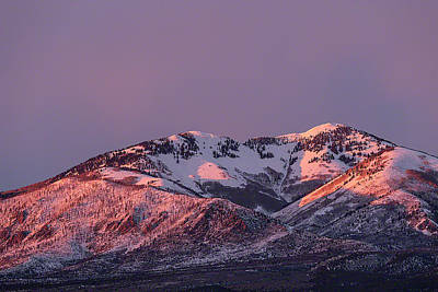 Photograph - Afternoon Alpenglow On South Mountain by Deborah Hughes