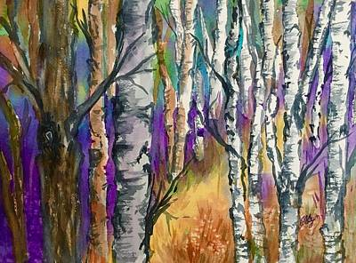 Painting - Afternoon Among The Birches  by Ellen Levinson