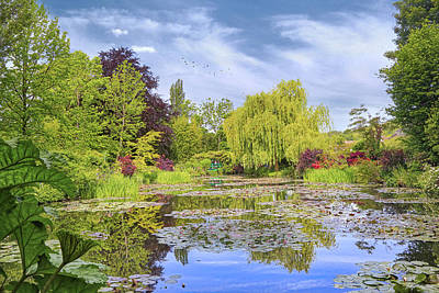 Photograph - Afternoon At Giverny by John Rivera