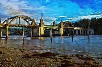 Photograph - Afternoon At Siuslaw River Bridge by Thom Zehrfeld