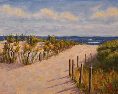 Art Print featuring the painting Afternoon At The Beach by Joe Bergholm