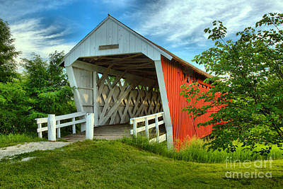 Photograph - Afternoon At The Imes Covered Bridge by Adam Jewell