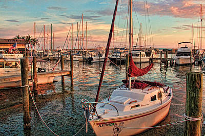 Photograph - Afternoon At The Marina by HH Photography of Florida