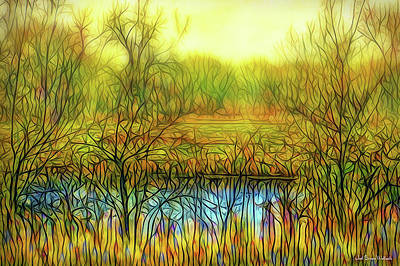 Digital Art - Afternoon Autumn Glow by Joel Bruce Wallach