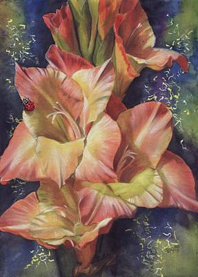 Gladiolas Painting - Afternoon by Barbara Keith