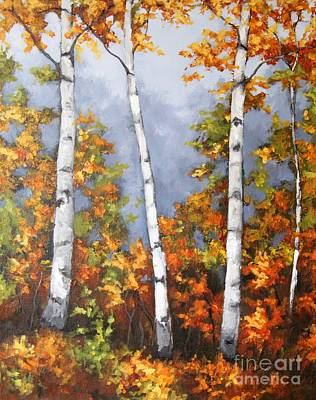 Painting - Afternoon Birches by Inese Poga