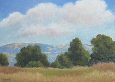 Painting - Afternoon Clouds Carpinteria Bluffs by Jennifer Boswell