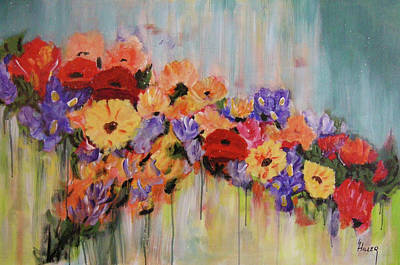 Drip Painting - Afternoon Delight by Linda Hiller