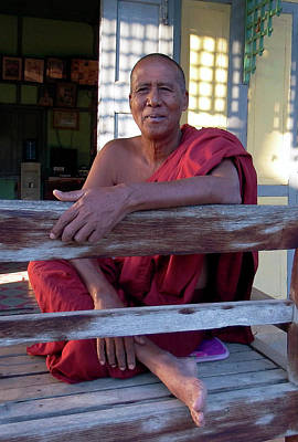 Photograph - Afternoon Greeter, Myanmar by Kurt Van Wagner
