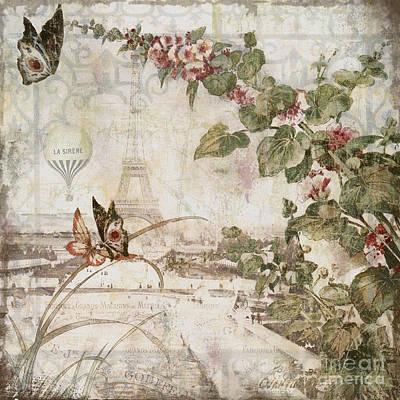 Paris Skyline Wall Art - Painting - Afternoon In Paris by Mindy Sommers