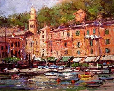Afternoon In Portofino Original by R W Goetting