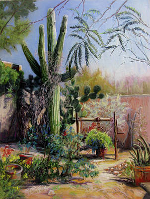 Afternoon In The Garden Art Print by Carole Haslock