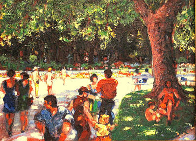 Painting - Afternoon In The Park by Walter Casaravilla