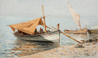 Giovanni Battista Castagneto Painting - Afternoon In Toulon by Giovanni Battista Castagneto