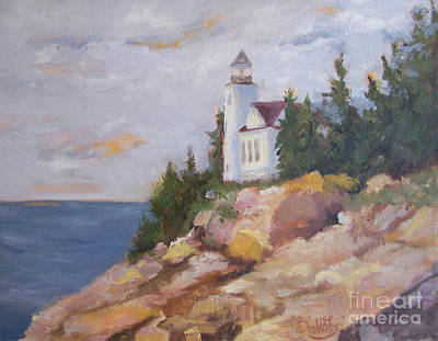 Maine Seacoast Painting - Afternoon Light - Bass Harbor by Alicia Drakiotes