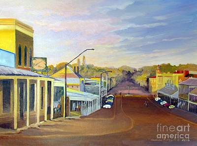 Beechworth Painting - Afternoon Light Beechworth Victoria Australia by Audrey Russill