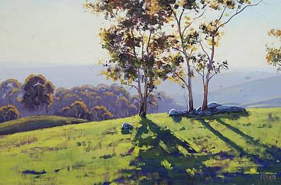 Afternoon Light Cuthill Road Original by Graham Gercken