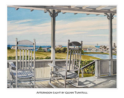 Painting - Afternoon Light Poster by Glenn Tunstull
