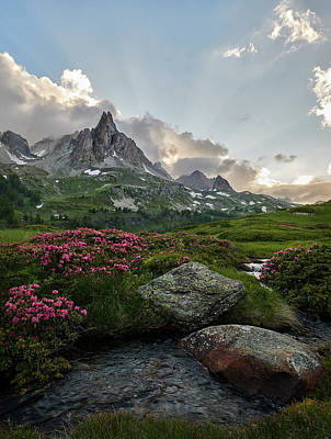 Photograph - Afternoon Light In The Alps by Jon Glaser
