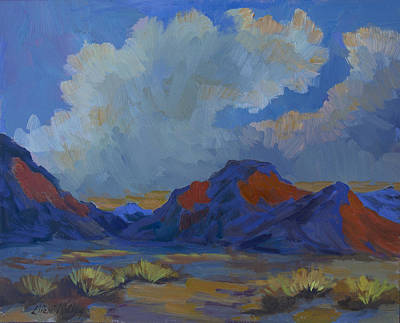 Mountain Valley Painting - Afternoon Light - La Quinta Cove by Diane McClary