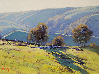 Australia Painting - Afternoon Light Lithgow by Graham Gercken
